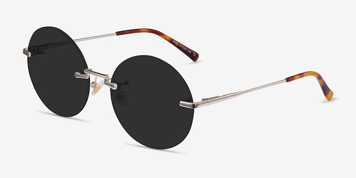 Wise Gold Metal Sunglass Frames from EyeBuyDirect, Angle View
