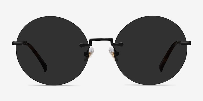 Wise Black Metal Sunglass Frames from EyeBuyDirect, Front View