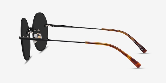 Wise Black Metal Sunglass Frames from EyeBuyDirect, Side View
