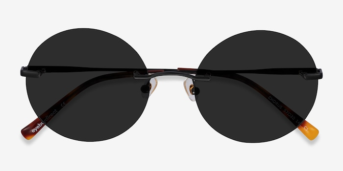 Chorus Black Metal Sunglass Frames from EyeBuyDirect, Closed View