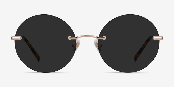 Chorus Rose Gold Metal Sunglass Frames from EyeBuyDirect, Front View