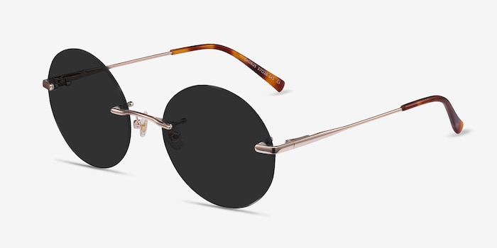 Chorus Rose Gold Metal Sunglass Frames from EyeBuyDirect, Angle View
