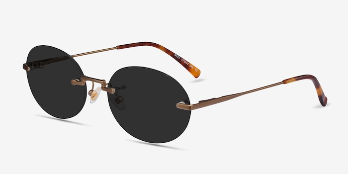 Daze Bronze Metal Sunglass Frames from EyeBuyDirect, Angle View