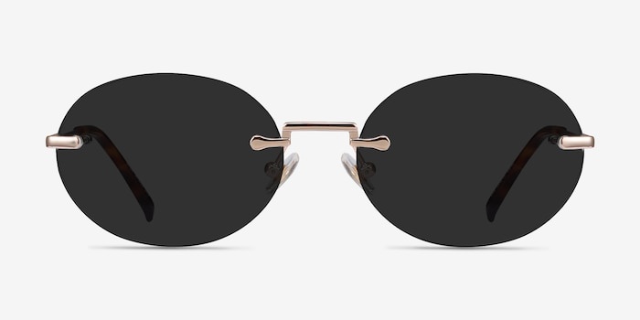 Daze Rose Gold Metal Sunglass Frames from EyeBuyDirect, Front View