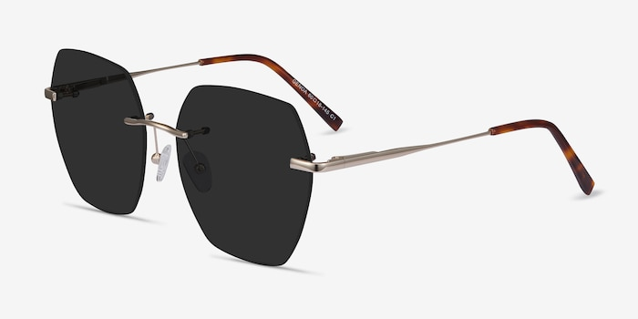 Genoa Gold Metal Sunglass Frames from EyeBuyDirect, Angle View