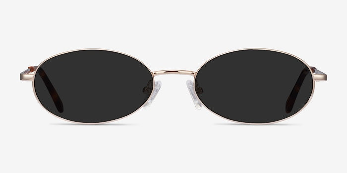 Graham Gold Metal Sunglass Frames from EyeBuyDirect, Front View