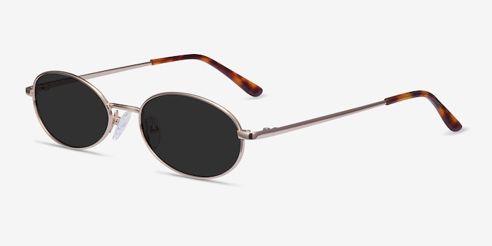 Graham Gold Metal Sunglass Frames from EyeBuyDirect, Angle View