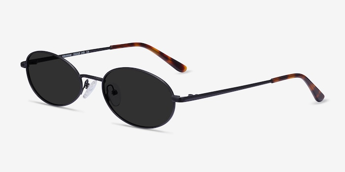 Graham Black Metal Sunglass Frames from EyeBuyDirect, Angle View