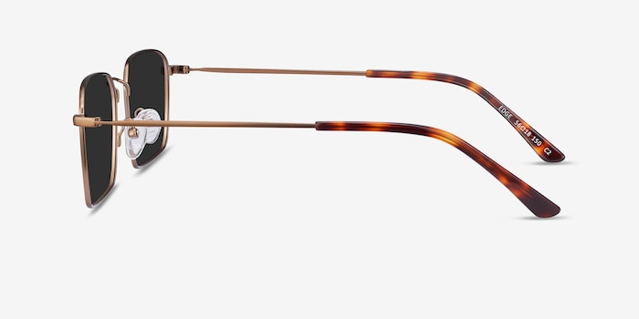 Edge Bronze Metal Sunglass Frames from EyeBuyDirect, Side View