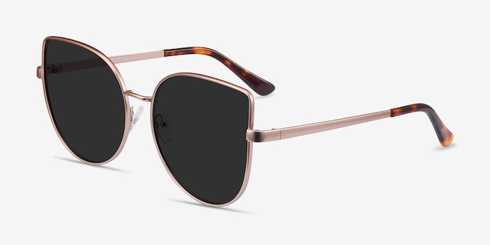 Bless Rose Gold Metal Sunglass Frames from EyeBuyDirect, Angle View