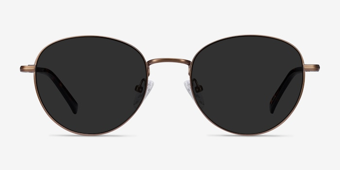 Span Bronze Acetate-metal Sunglass Frames from EyeBuyDirect, Front View