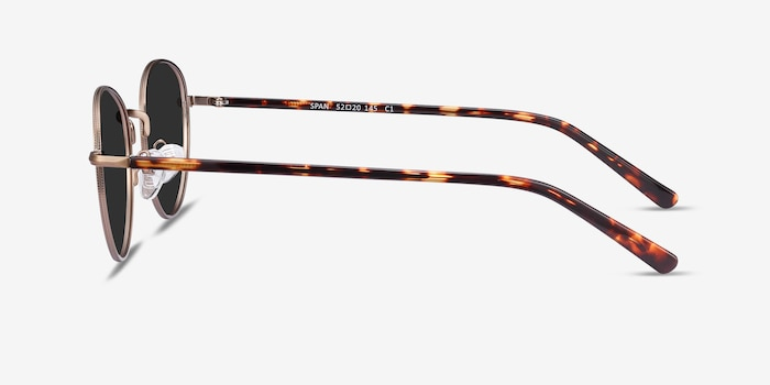 Span Bronze Acetate-metal Sunglass Frames from EyeBuyDirect, Side View