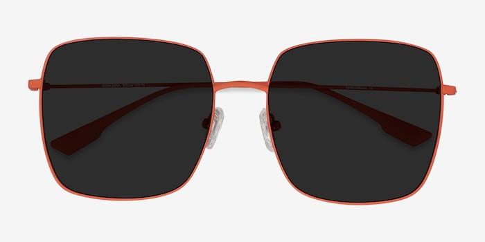 Bora Bora Melon Metal Sunglass Frames from EyeBuyDirect, Closed View