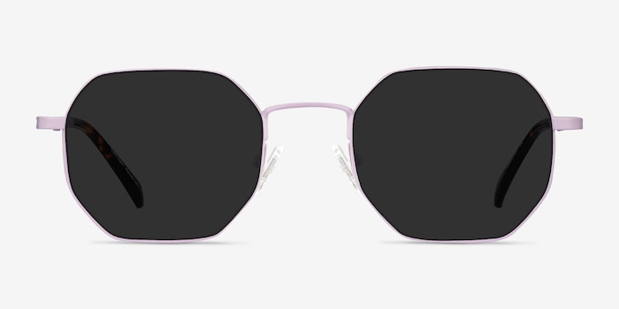 Sun Soar Lavender Metal Sunglass Frames from EyeBuyDirect, Front View