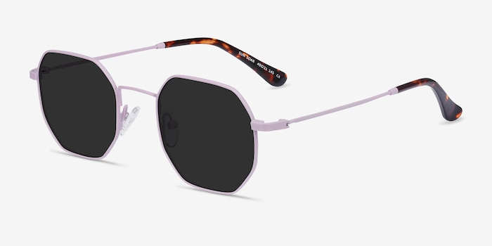Sun Soar Lavender Metal Sunglass Frames from EyeBuyDirect, Angle View
