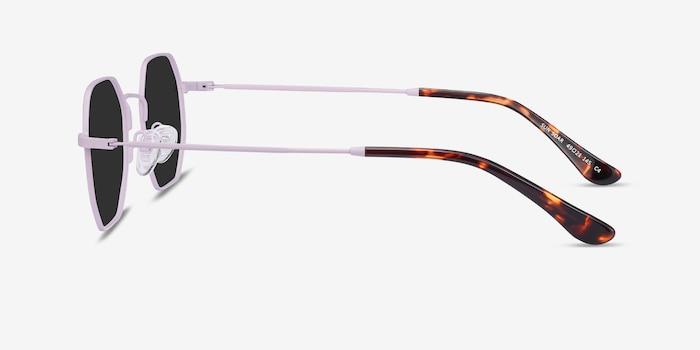Sun Soar Lavender Metal Sunglass Frames from EyeBuyDirect, Side View
