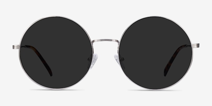 Teavee Silver Metal Sunglass Frames from EyeBuyDirect, Front View