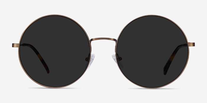 Teavee Bronze Metal Sunglass Frames from EyeBuyDirect, Front View