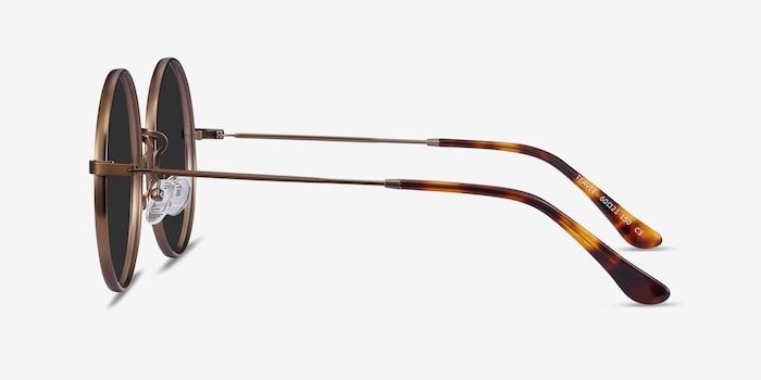 Teavee Bronze Metal Sunglass Frames from EyeBuyDirect, Side View