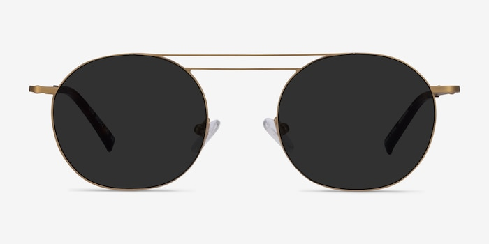 Lito Bronze Metal Sunglass Frames from EyeBuyDirect, Front View