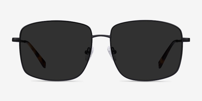 Ryker Black Metal Sunglass Frames from EyeBuyDirect, Front View