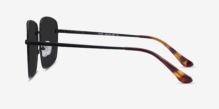 Ryker Black Metal Sunglass Frames from EyeBuyDirect, Side View