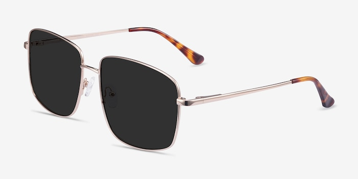 Ryker Gold Metal Sunglass Frames from EyeBuyDirect, Angle View