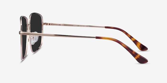 Ryker Gold Metal Sunglass Frames from EyeBuyDirect, Side View