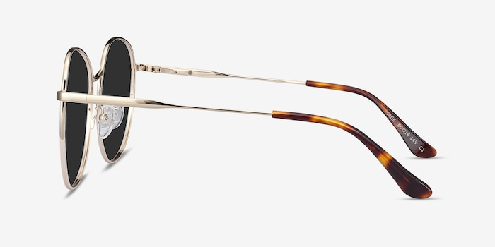 Sage Gold Metal Sunglass Frames from EyeBuyDirect, Side View