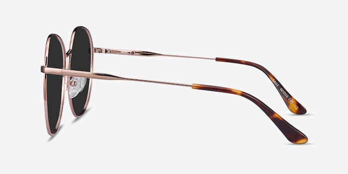 Sage Rose Gold Metal Sunglass Frames from EyeBuyDirect, Side View