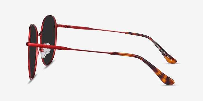 Sage Red Metal Sunglass Frames from EyeBuyDirect, Side View
