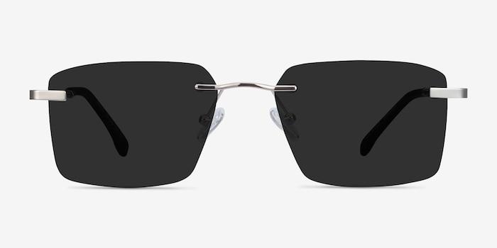 Invent Argenté Métal Soleil de Lunette de vue d'EyeBuyDirect, Vue de Face