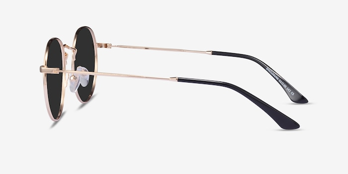 Disclosure Gold Metal Sunglass Frames from EyeBuyDirect, Side View