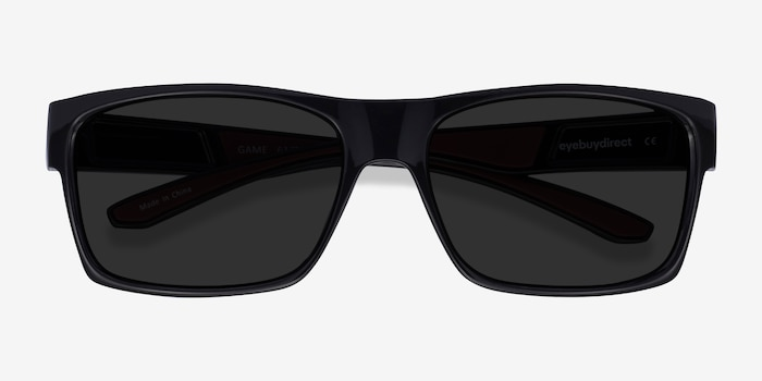 Game Black Plastic Sunglass Frames from EyeBuyDirect, Closed View