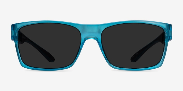 Game Blue Plastic Sunglass Frames from EyeBuyDirect, Front View
