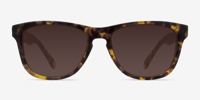 Malibu Brown/Tortoise Acetate Sunglass Frames from EyeBuyDirect, Front View