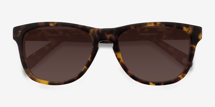 Malibu Brown/Tortoise Acetate Sunglass Frames from EyeBuyDirect, Closed View