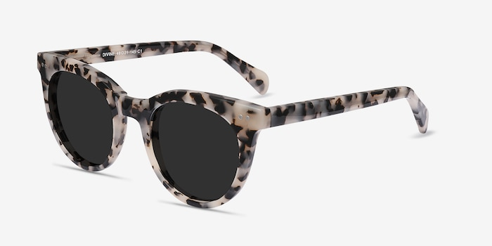 Divine Gray/Tortoise Acetate Sunglass Frames from EyeBuyDirect, Angle View