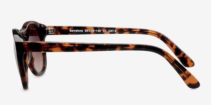 Barcelona Brown/Tortoise Plastic Sunglass Frames from EyeBuyDirect, Side View