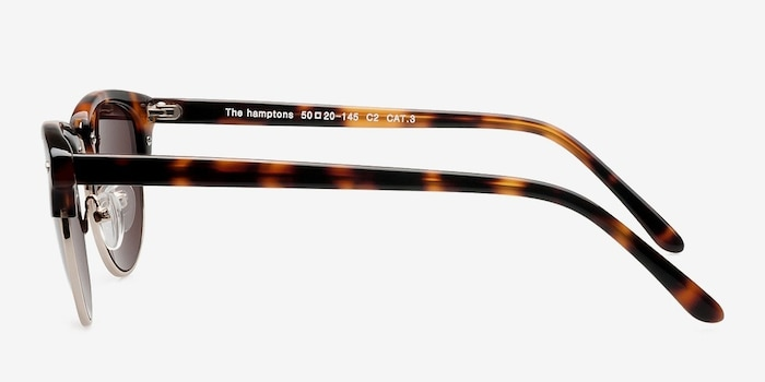 The Hamptons Golden Tortoise Metal Sunglass Frames from EyeBuyDirect, Side View