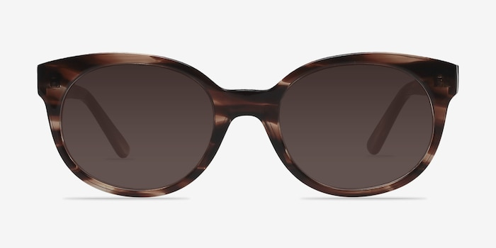 Matilda Brown/Tortoise Acetate Sunglass Frames from EyeBuyDirect, Front View