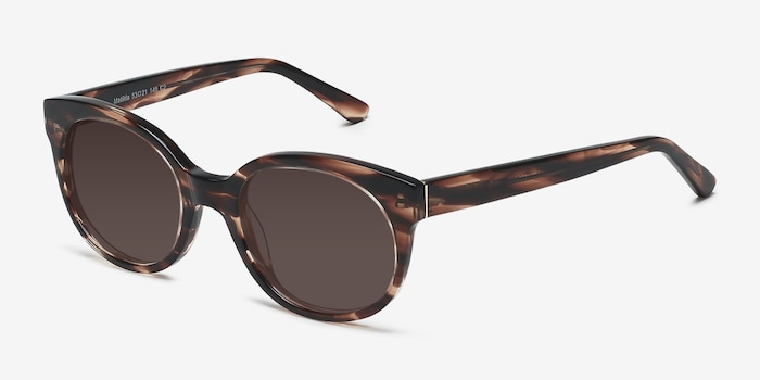 Matilda Brown/Tortoise Acetate Sunglass Frames from EyeBuyDirect, Angle View