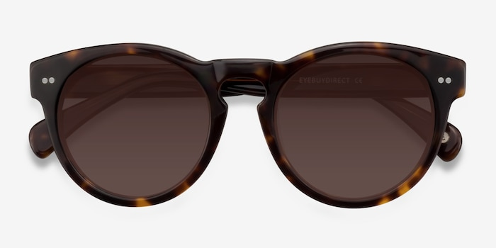 Penelope Brown/Tortoise Plastic Sunglass Frames from EyeBuyDirect, Closed View