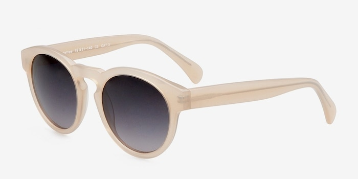 Penelope Ivory Plastic Sunglass Frames from EyeBuyDirect, Angle View