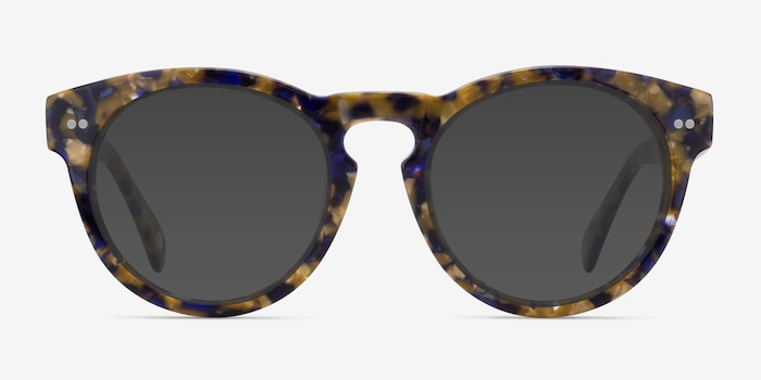 Penelope Blue/Tortoise Plastic Sunglass Frames from EyeBuyDirect, Front View