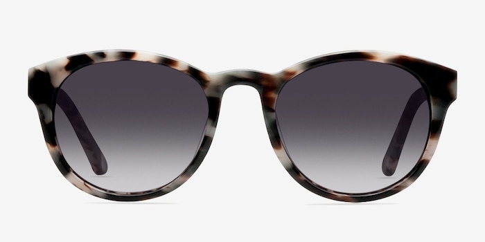 Coppola Gray/Brown Plastic Sunglass Frames from EyeBuyDirect, Front View