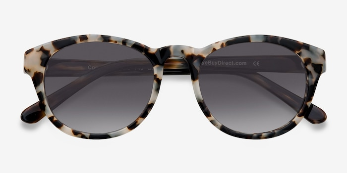 Coppola Gray/Brown Plastic Sunglass Frames from EyeBuyDirect, Closed View