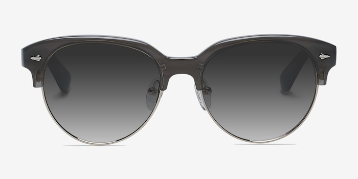 Carven Gray Plastic Sunglass Frames from EyeBuyDirect, Front View