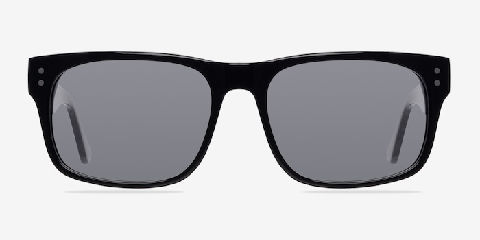 Baltimore  Black  Acetate Sunglass Frames from EyeBuyDirect, Front View