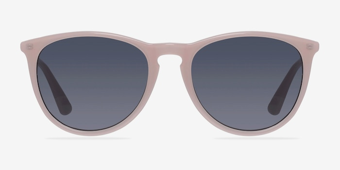 Interlude Light Pink Plastic Sunglass Frames from EyeBuyDirect, Front View